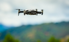 Drone with blurred background