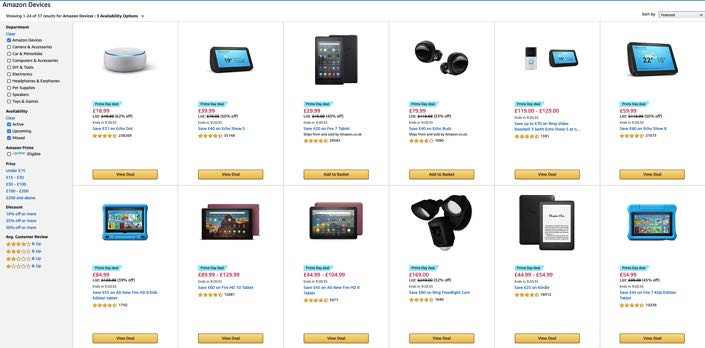 Prime Day Amazon Products